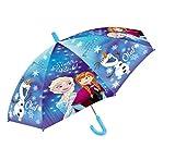 Frozen - Regenschirm - Anna und Elsa - Eiskönigin - Der Griff ist für Kinderhände genau richtig damit der Schirm auch bei stärkerem Wind sicher festgehalten werden kann. (Anna Elsa Olaf)