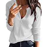 DaySing Chemisière Tricots Femme Sexy Mode Vêtements de Travail Automne Essential Home...