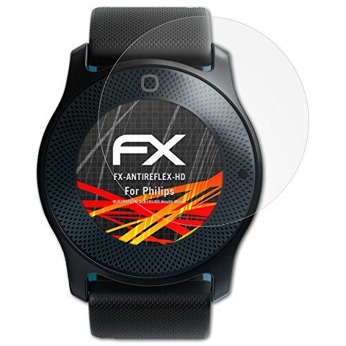 atFoliX Schutzfolie kompatibel mit Philips DL8790/00 und DL8791/00 Health Watch Bildschirmschutzfolie, HD-Entspiegelung FX Folie (3X)