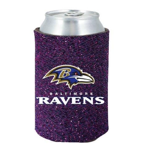 Baltimore Ravens Glitter Kolder Kaddy Can Holder (4 Unzen Roll)