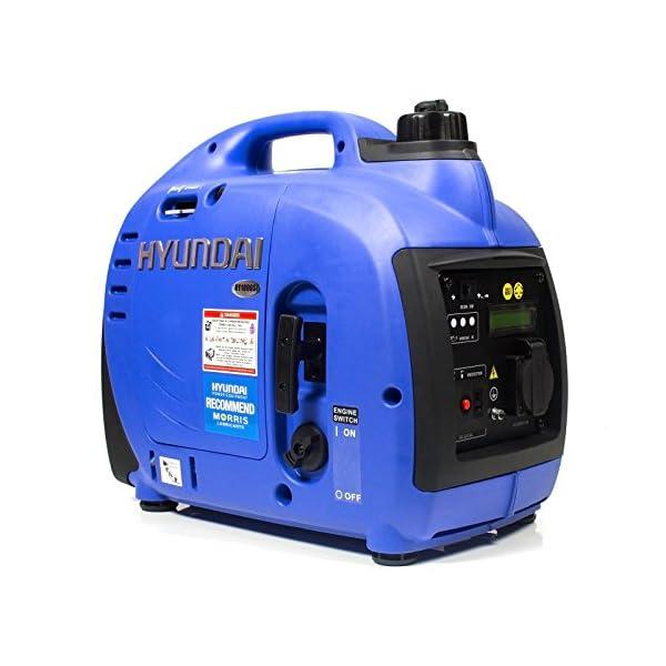 Hyundai HY1000SI 1000 W Portable 4-Stroke Petrol Generator / Inverter Easy Start 1