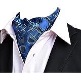 YCHENG Ascotkrawatte Gemustertes Quadratische Herren Bandana Tuch Halstuch Ascot Krawatte Blau 118 * 16 * 5.5cm