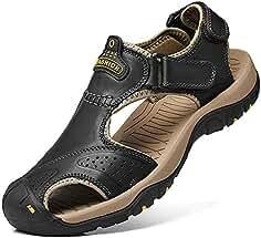 Sandalias Hombres Deportivas Verano Senderismo Chanclas Trekking Zuecos Zapatos cangrejeras Cuero Zapatillas Playa Velcro Pescador Deportiva
