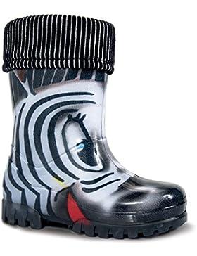 DEMAR - Kinder Gummistiefel mit Socken / Regenstiefel / Gartenschuhe - TWISTER LUX PRINT