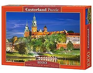 CASTORLAND Wawel Castle by Night, Poland 1000 pcs Puzzle - Rompecabezas (Poland 1000 pcs, Puzzle Rompecabezas, Paisaje, Niños y Adultos, Niño/niña, 9 año(s), Interior)