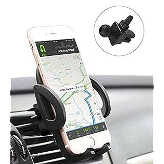 QueenDer Handyhalter fürs Auto, KFZ Handy Halterung Einstellbar Universal Auto Lüftungsgitter Autozubehör Handyhalterung für iPhone XS/Max/X/8/7/6 Plus, Samsung, Huawei, LG, Smartphone und GPS-Gerät