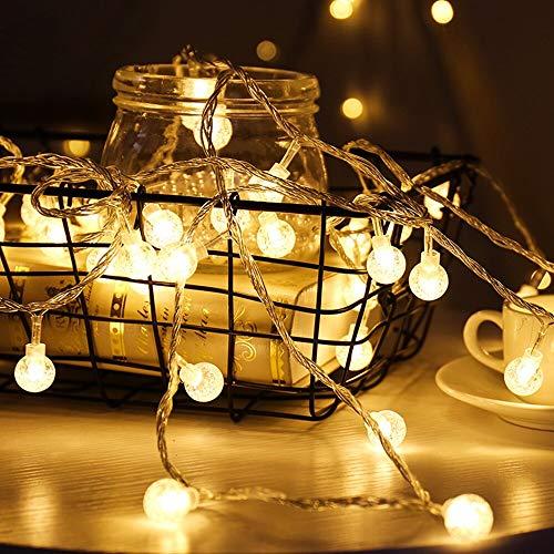 Luci stringa, diki 16.5ft 40 led luci a sfera a sfera fiabe alimentate a batteria scintillio per vacanze matrimoni giardini di natale decorazioni per la casa luci per interni