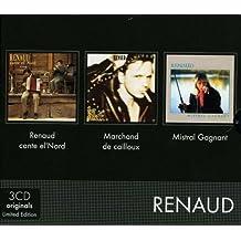 Coffret 3 CD : Renaud Cante El'Nord - Marchand De Cailloux - Mistral Gagnant