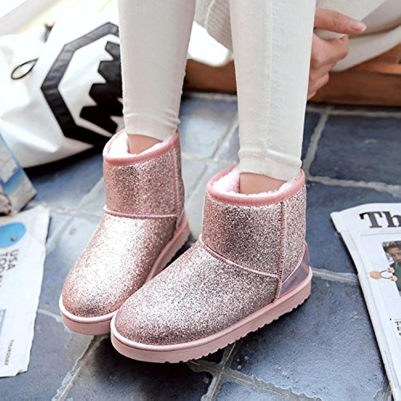 Y-Hui botas de invierno un Sequined Short botas zapatos Zapatos Slip engrosamiento estudiantes,37 códigos más...
