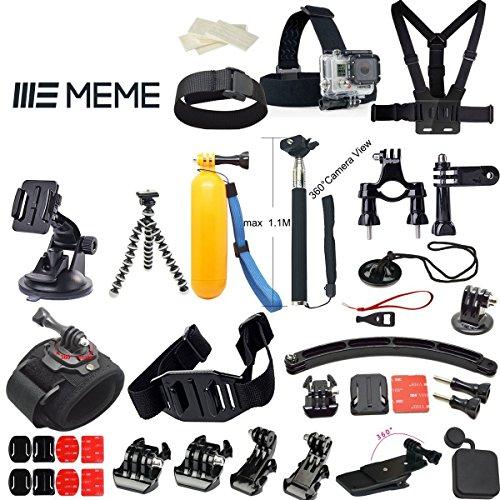 25in 1accessori per GoPro Hero 4Hero 3+ Hero 3fotocamera per sport all' aperto, nuoto, canottaggio surf arrampicata corsa, ciclismo, campeggio, immersioni Outing, dal MEME