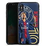 DeinDesign Coque en Silicone Compatible avec Apple iPhone X Étui Silicone Coque Souple Paris Saint-Germain Produit sous Licence Officielle PSG Neymar Jr