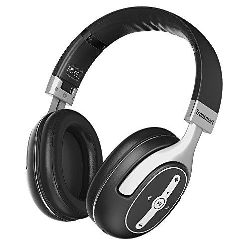Tronsmart S6 Bluetooth Kabellose Kopfhörer Over Ear Headset, verstellbare und Faltbare mit Noise Cancelling, 24 Stunden Spielzei, für iOS Andorid Handys Smartphones, Tablet und Laptop (Schwarz)
