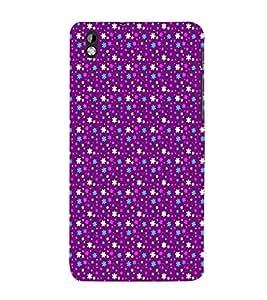 EPICCASE bling purple flowers Mobile Back Case Cover For HTC Desire 816 (Designer Case)