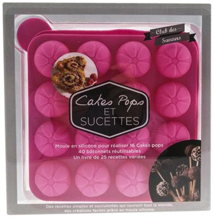 COFFRET CAKES POPS ET SUCETTES ROSE par Collectif