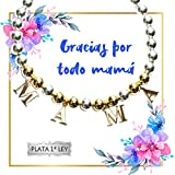 Pulsera bolas Mamá de Plata de Ley con abalorios bañados en Oro   Regalos Día de la Madre   Joyas para mamá   Envío gratis