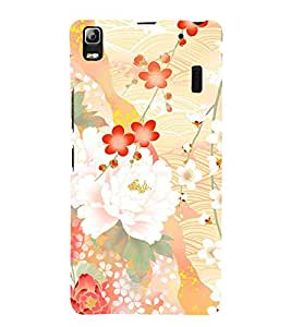 Floral Abstract Design 3D Hard Polycarbonate Designer Back Case Cover for Lenovo K3 Note