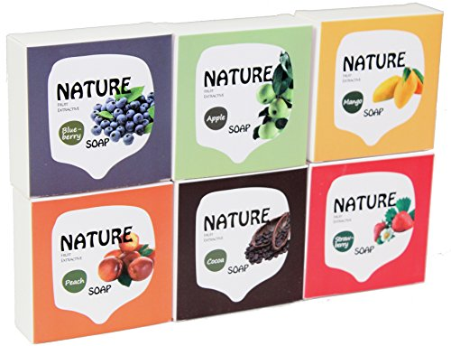 luxehome-fruit-series-100-nature-oil-guest-gift-soap-sapone-set-75g-pcs-6pcs-set