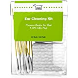 Dog Ear Cleaner Kit | 100% Cotton Pads | Premium Grade Bamboo Cotton Buds | Pack of 50