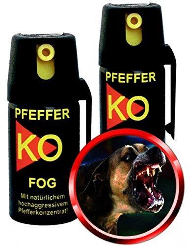 2x Pfefferspray KO-FOG je 40ml Tierabwehrspray Verteidigungsspray