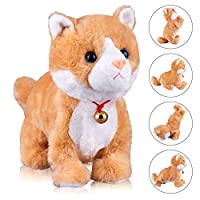 Marsjoy Interactive Cat Plush Animated Pet Electronic Kitty Cute Robot Cat