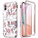 SURITCH Coque iPhone X/iPhone XS Silicone 360 Degrés Souple Slim Integrale Antichoc Qui Protege Bien Avant et Arrière Etui Case Cover Housse iPhone XS/X (Coloré)