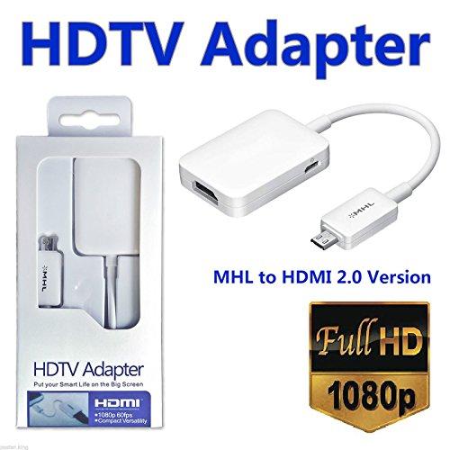 O2+ MHL Mirco USB to HDMI HDTV Adapter for Samsung Galaxy (MHL Enabled Devices only). Please check compatible device before purchase (Mhl Hdtv)