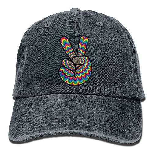 Aeykis Unisex-Baseballmütze Psychedelic Peace Hippie Summer Jean Cabbie Cap für Damen