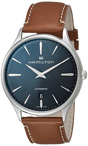 HAMILTON Montre homme en acier et cuir H38525541