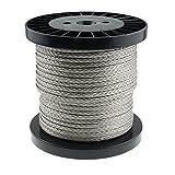 Seil Dyneema PRO 2mm 100m geflochten carbon grau