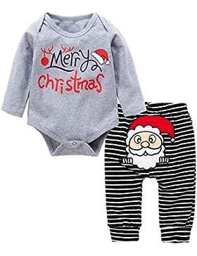 Baywell Baby Kleinkind Jungen Mädchen Kleider Set, Casual Outwear Langarm Spielanzug & Gestreifte Hosen