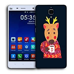 Snoogg Deer Drinkng Coffee Designer Protective Back Case Cover For XIAOMI MI4