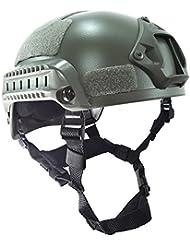 Worldshopping4U estilo MICH 2001combatir casco protector con carril lateral y montaje NVG (FG) para Airsoft táctico militar deportes Paintball caza