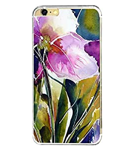 Flowers Painting 2D Hard Polycarbonate Designer Back Case Cover for Apple iPhone 6 Plus :: Apple iPhone 6+