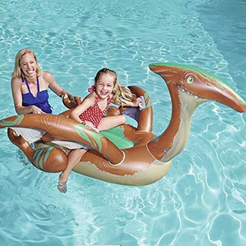 ToDIDAF Schwimmbad schwimmt für Kinder, Schwimmbadzubehör, Cartoon-Schwimmring, Wasser aufblasbares Spielzeug, schwimmendes Bett, geeignet für Sommerurlaub / Poolparty / Reisen (Dinosaurier)