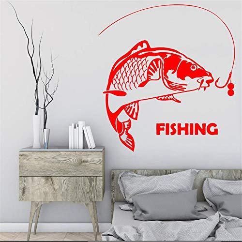 Gefangen von Fisherman Wasserdichte Wandbild Home Livingroom Decor Mit Fisch Zitate Spezielle Vinyl Wandbild Aufkleber 57 * 68 cm