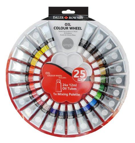 daler-rowney-simply-oil-colour-wheel-paint-set-of-24-tubes-of-12ml-colours