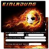 """11 Einladungskarten zum Kindergeburtstag """"Fussball"""" // Geburtstagseinladungen Jungen Mädchen Kinder Einladungen Fussballparty Geburtstag"""