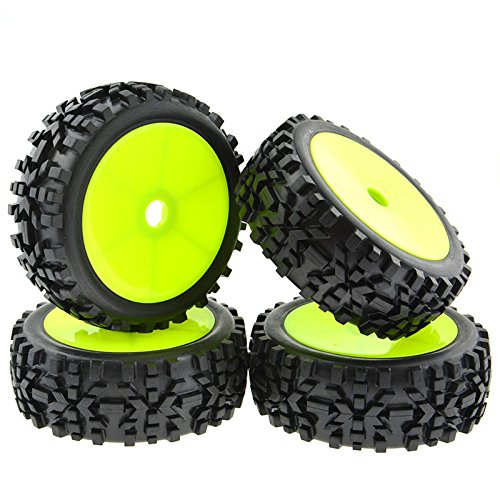 1-8-scale-rc-buggy-cars-tyre-tires-box-pattern-plastic-black-wheels-rims-concentric-pack-of-4