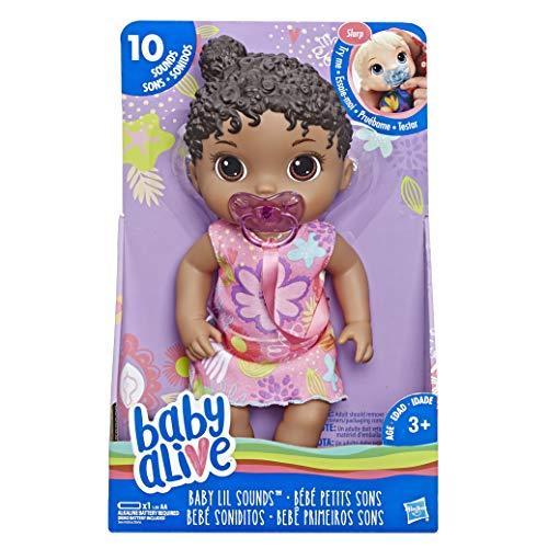 Baby Alive E3689ES00 Lil Sounds: Muñeca de Pelo Negro Interactivo