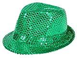 Alsino Paillettenhut Pailetten Hut Partyhut Trilby Hut Discohut Pailletten Glitzerhut Glitter, Farbe wählen:TH-62 grün