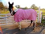 Cwell Equine neuen besten Qualität leicht Pink Pferdedecke/Regendecke ohne Füllung 600Denier 100% wasserdicht, atmungsaktiv, 600Denier (6'0cm