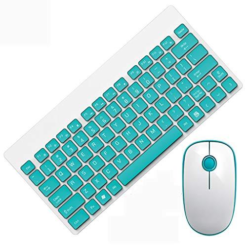 Kabellose Tastatur Leichte tragbare Mute Wireless-Tastatur und Maus-Kombination Set Spiel Home Office Desktop Wireless-Maus und Tastatur Set Chocolate Key Power Saving Compact Externer USB für Windows -