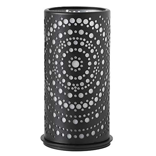 """Kerzenhalter \""""Billy\"""" von Duni - schwarz, 4er Etui, Metall-Kerzenhalter, Abdeckung mit Schnittmuster"""