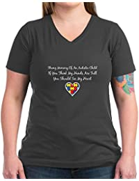CafePress Strong Mommy - Womens Cotton V-Neck T-Shirt
