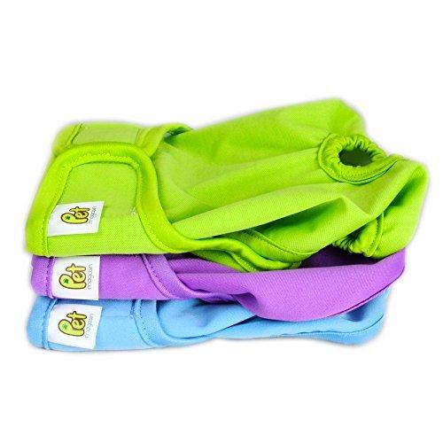 Wiederverwendbare Hundewindeln [3er Packung] Hygienische Hundewindeln, hoch absorbierend, Maschinenwaschbar & Umweltfreundlich (Solide, S)