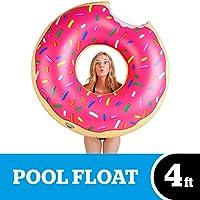 BigMouth Inc. bouée Donut gigantesque piscine (Fraise givrée avec éclats)