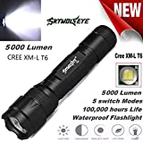 AmyGline Tactical Military LED-Taschenlampe 10000 Lumen Zoomable Flashlight...