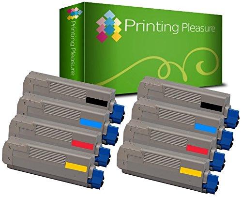Set of 8 Compatible Laser Toner Cartridges for OKI C610 N/DN/CDN/DTN / 44315308 / 44315307 / 44315306 / 44315305