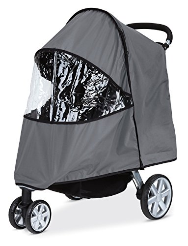 Britax B-Agile Rain Cover - Gray w Vinyl Window