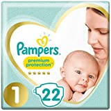 Pampers Premium Protection Taille 1, 22 Couches, 2kg-5kg